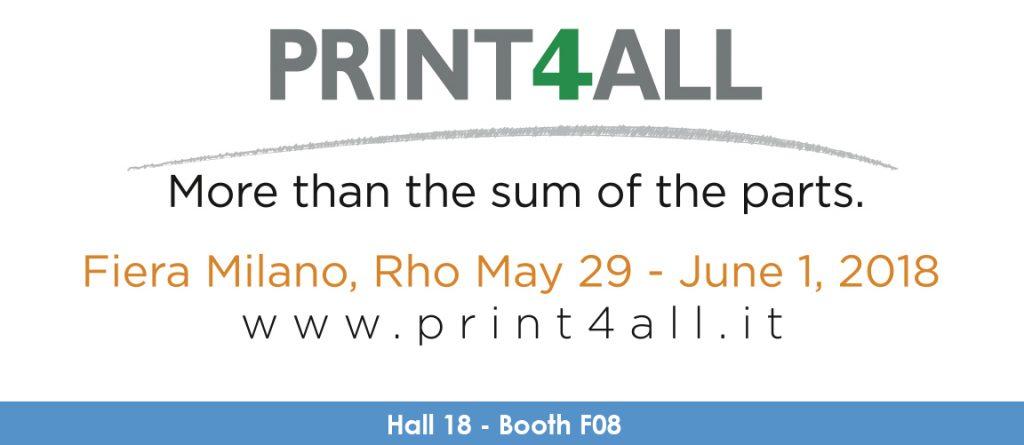 Print4All beurs 2018 banner logo